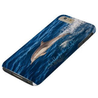 Go Blue for the Dolphins I phoen 6 plus case Tough iPhone 6 Plus Case