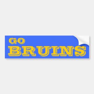 Go Bruins* Bumper Sticker