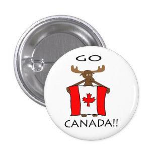 Go Canada!! 3 Cm Round Badge