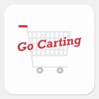 Go Carting Square Sticker