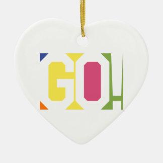 GO! CERAMIC HEART DECORATION