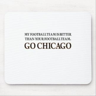 GO CHICAGO (black shuffle) Mouse Mat