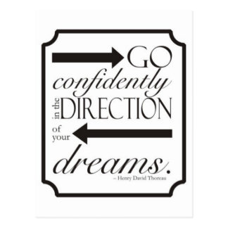 Go Confidently Postcard