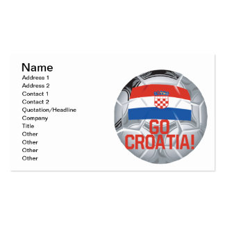 Go Croatia Pack Of Standard Business Cards