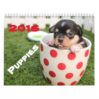 Go Cute ~ Go Puppy 2016 Calendar