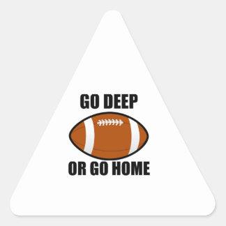 Go Deep Or Go Home Triangle Sticker
