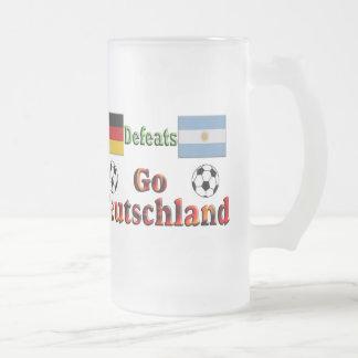 Go Deutschland Frosted Glass Mug