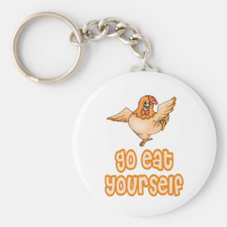 Go Eat Yourself Chicken Key Ring
