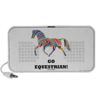 Go Equestrian Horse Color Swirl Travel Speaker
