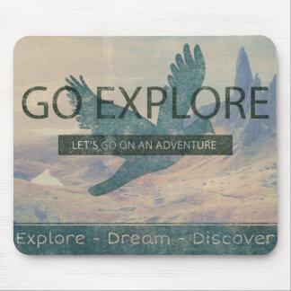 Go Explore Mouse Mat