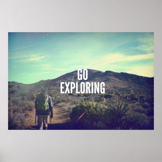Go Exploring Poster
