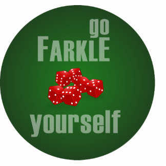 Go Farkle Yourself Photo Sculpture Key Ring