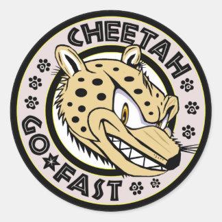 Go Fast Cheetah Classic Round Sticker