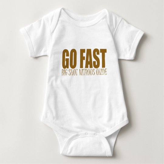 go fast nitrous oxide racing baby bodysuit