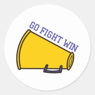 Go Fight Win Classic Round Sticker