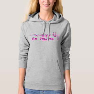 go figure - Pink on Heather Hoodie