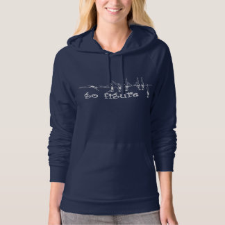 go figure - White on Navy Hoodie