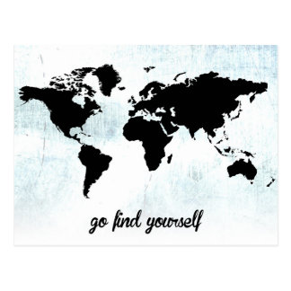 Go find yourself postcard