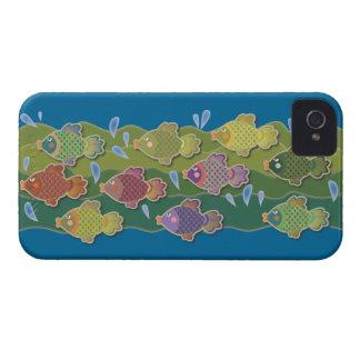 Go Fish Blue iPhone 4 Case