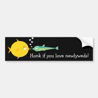 Go Fish_Deep Love_Honk if you love newlyweds Car Bumper Sticker