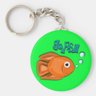"""Go Fish"" Goldfish Key Ring"