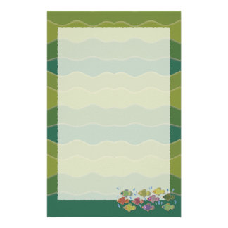 Go Fish Green Stationery