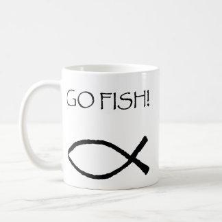 Go Fish Classic White Coffee Mug