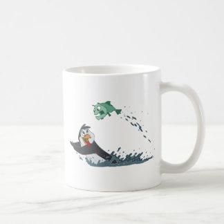 Go Fish Penguin Coffee Mugs