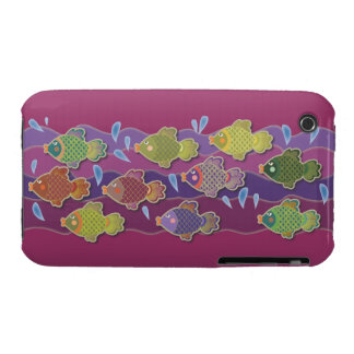 Go Fish Pink iPhone 3 Case-Mate Cases