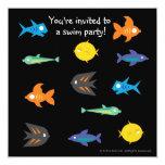 Go Fish_You're invited to a swim party! 13 Cm X 13 Cm Square Invitation Card