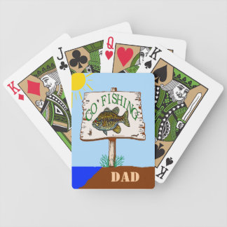 Go Fishing Dad Bicycle Poker Deck