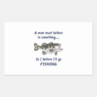 GO FISHING RECTANGULAR STICKERS