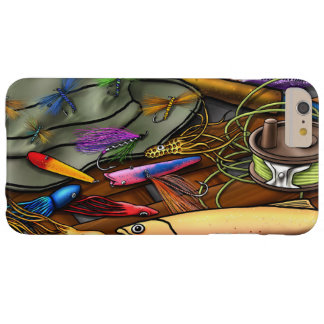 Go Fishing, with Name Option Barely There iPhone 6 Plus Case