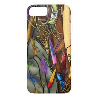 Go Fishing, with Name Option iPhone 7 Case