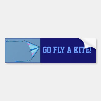 Go Fly A Kite Bumper Sticker