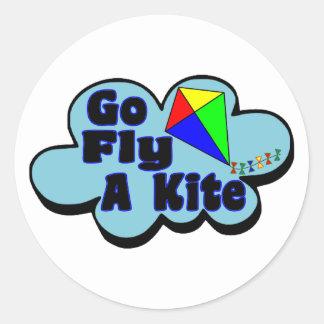 Go Fly A Kite Classic Round Sticker