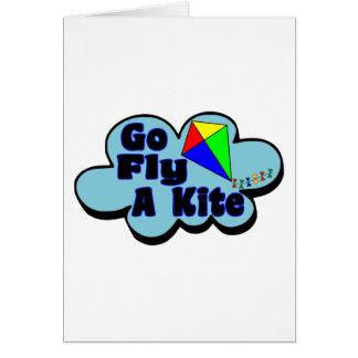 Go Fly A Kite Greeting Card