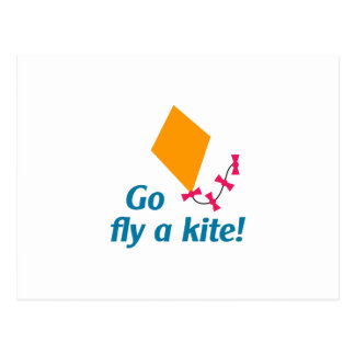 GO FLY A KITE POSTCARD