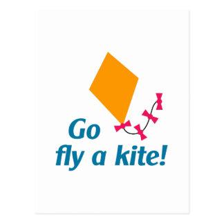 GO FLY A KITE POSTCARD