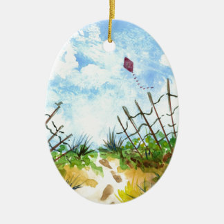 Go Fly A Kite - watercolor Christmas Ornament