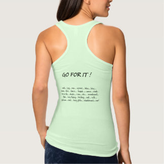 Go For It! Tank Top