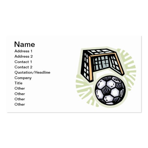 Go For The Goal Business Card Templates