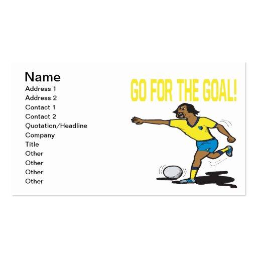 Go For The Goal Business Card