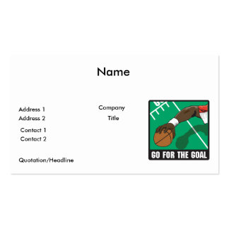 go for the goal football design pack of standard business cards