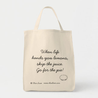Go For the Pie! Organic Tote Grocery Tote Bag