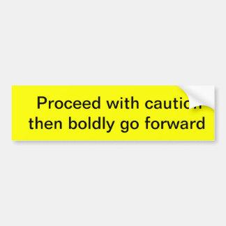 go forward bumper sticker
