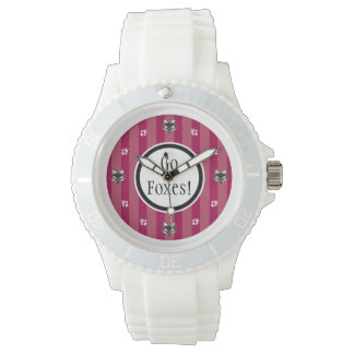 Go Foxes foxhead and foxpaw logo Watches