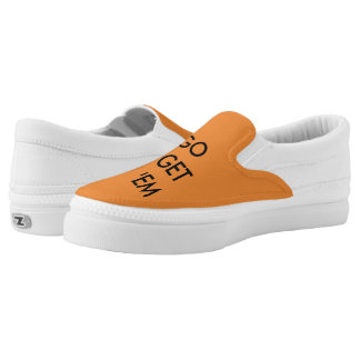 Go Get 'em Tiger Orange Slip on! Slip On Shoes