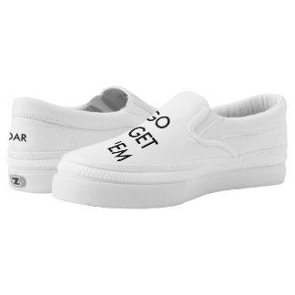 Go Get 'em Tiger Simple White Slip on! Slip On Shoes