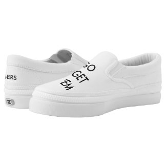 Go Get 'em Tiger Simple White Slip on! Slip On Shoes
